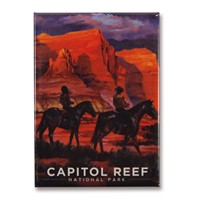 Capitol Reef Happy Trails Magnet