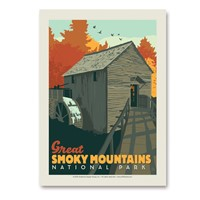 Great Smoky Cable Mill Vert Sticker