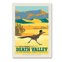Death Valley Roadrunner Vertical Sticker