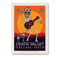 Death Valley Skeleton Vertical Sticker