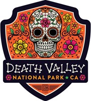 Death Valley Skull Emblem Sticker