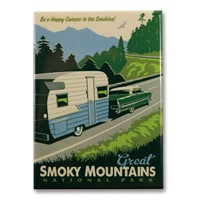 Great Smoky Car Camping Magnet