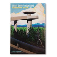 Great Smoky Clingmans Dome Magnet
