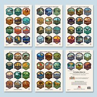 61 NP & 5 Bonus Small Emblem Sticker Set