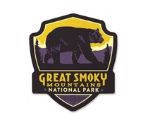 Great Smoky Bear Wooden Emblem Magnet