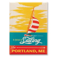 I'd Rather Be Sailing in Portland, ME Magnet