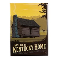 My Old Kentucky Home Cabin Magnet