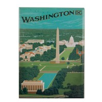Washington, DC Aerial View Magnet
