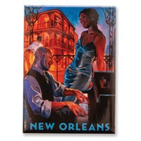 New Orleans Jazz Magnet