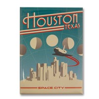 Houston Space City Magnet