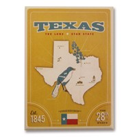 State Pride Print Texas Magnet
