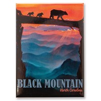 NC Black Mountain Bear Crossing Magnet
