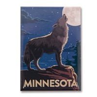 MN Howling Wolf Magnet
