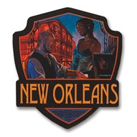 New Orleans Jazz Wooden Emblem Magnet