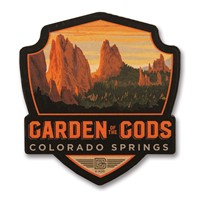 Garden of the Gods, CO Wooden Emblem Magnet