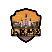 New Orleans St. Louis Cathedral Emblem Sticker
