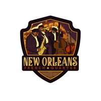 New Orleans French Quarter Emblem Sticker