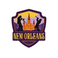 New Orleans The Big Easy Emblem Sticker