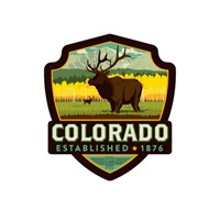 Elk CO Emblem Sticker
