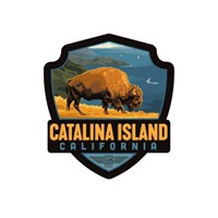 Catalina Bison Emblem Sticker