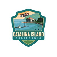 Catalina Island Emblem Sticker