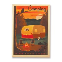 Camping is For Nature Lovers Magnet