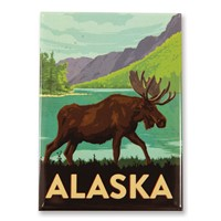 AK Moose Encounter Magnet