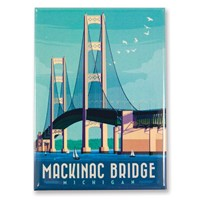 MI Mackinac Bridge Magnet