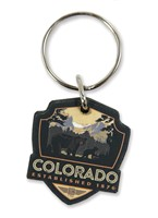 Sprague Lake Bears CO Wooden Key Ring