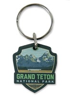 Grand Teton Vert Emblem Wooden Key Ring
