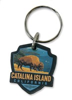 Catalina Bison Emblem Wooden Key Ring