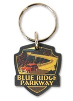 Blue Ridge Parkway Emblem Wooden Key Ring