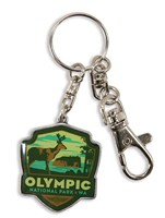 Olympic NP Emblem Pewter Key Ring