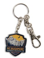 Mt. Rushmore Emblem Pewter Key Ring