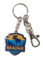 ME Moose Emblem Pewter Key Ring