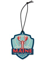ME Lobster Emblem Wooden Ornament