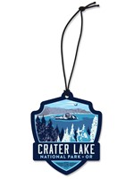 Crater Lake Emblem Wooden Ornament