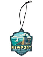 RI Newport Emblem Wooden Ornament