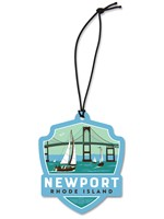 RI Newport Bridge Emblem Wooden Ornament