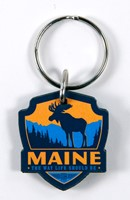 ME Moose Emblem Wooden Key Ring