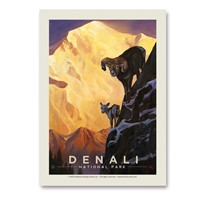Denali Living on the Edge Vert Sticker