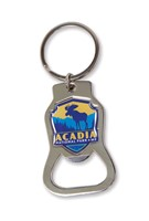 Acadia Moose Emblem Bottle Opener Key Ring
