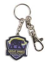 Great Smoky Emblem Pewter Key Ring