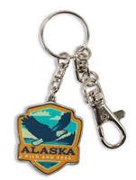 Alaska Eagle Emblem Pewter Key Ring