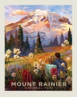 "Mt. Rainier Moment in the Meadow 8"" x10"" Print"
