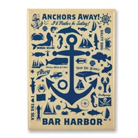 Anchor Pattern Print Bar Harbor Magnet