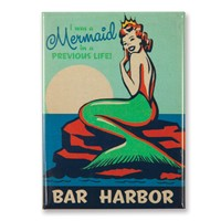 Mermaid Queen Bar Harbor Magnet