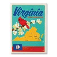 VA Map Magnet