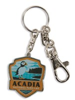 Acadia NP Emblem Pewter Key Ring