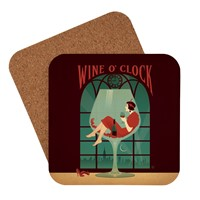 Wine O'clock Coaster